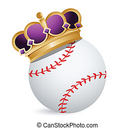 Baseball ball with a crown