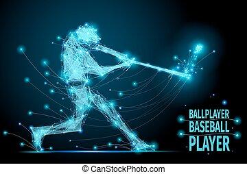 baseball ballplayer polygonal - Polygonal ballplayer in ...