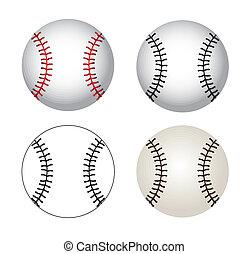 Baseball balls over white background vector illustration