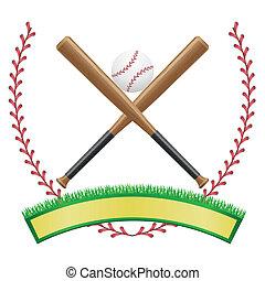 baseball banner emblem vector
