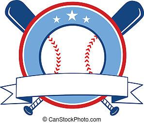 Baseball Banner. Illustration Isolated on white