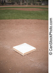 Baseball base - Individual baseball base in baseball diamond...