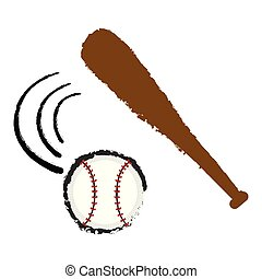 Baseball bat and a ball