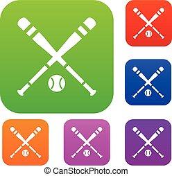 Baseball bat and ball set collection