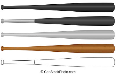 Baseball bat stock photos and images 15094 baseball bat pictures baseball bat baseball bat set isolated on a white pronofoot35fo Choice Image