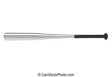 Baseball Bat - Silver side view