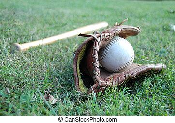 Baseball Bat with Glove