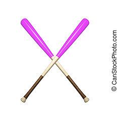 baseball bats isolated on white background