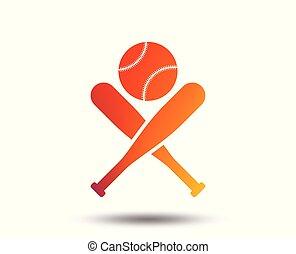 Baseball bats sign icon. Sport symbol.