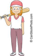 Baseball Batter Girl