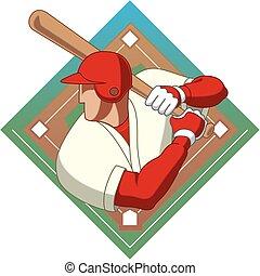 baseball batter male