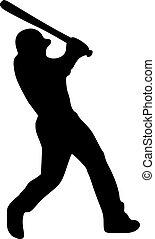 Baseball Batter Player Silhouette