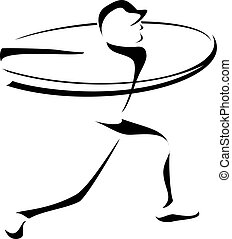 Baseball Batter Stylized - Stylized depiction of a baseball...