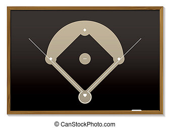 baseball blackboard - Teaching black board with basic...