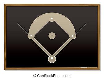 baseball blackboard - Teaching black board with basic...