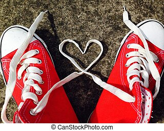 baseball boots sneakers love heart