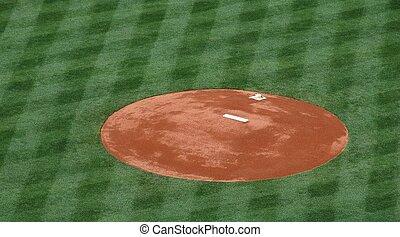 baseball, brocche, tumulo