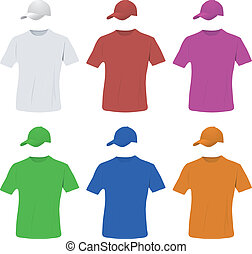 Baseball cap and shirt set - Baseball cap and shirt colored ...