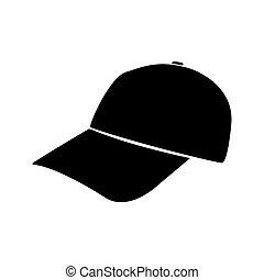 Baseball cap black color icon .