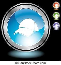 Baseball cap Chrome Icon Set