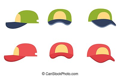Baseball Cap Collection, Front, Back and Side View