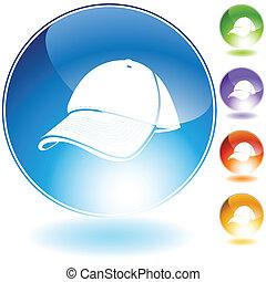 Baseball cap Crystal Icon Set