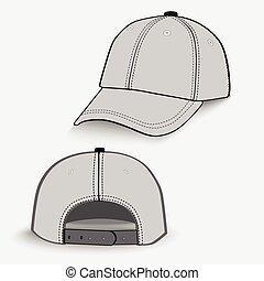 Baseball cap. Detailed vector. EPS10