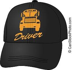 Baseball cap for school bus driver
