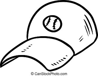 Baseball cap hand drawn sketch doodle icon