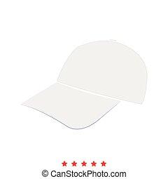 Baseball cap icon . Flat style
