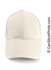 Baseball cap from jeans fabric isolated on white background