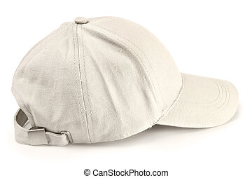 Baseball cap isolated - Baseball cap from jeans fabric...