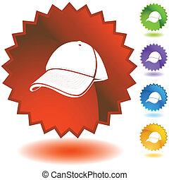 Baseball cap Starburst Icon Set