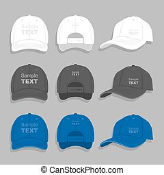 Baseball cap - Vector baseball cap illustration on gray ...