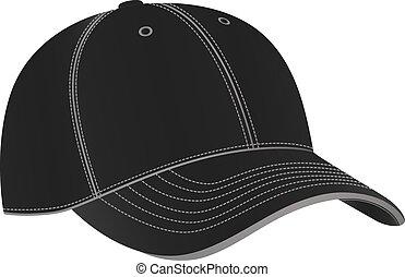 baseball cap vector - baseball cap in vector on white ...