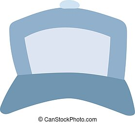 Baseball cap vector illustration. - Blue baseball cap...