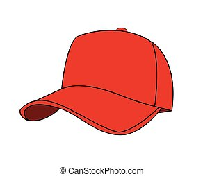 baseball cap vector illustration