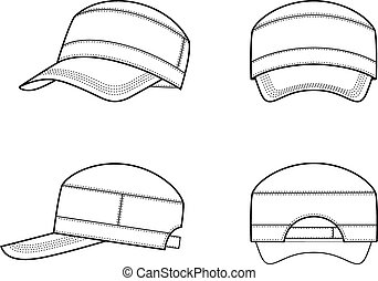 Baseball cap - Vector illustration of a baseball cap
