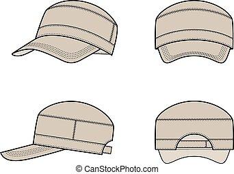 Baseball cap - Vector illustration of a baseball cap from ...