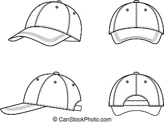 Baseball cap - Vector illustration of a baseball cap from...