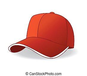 baseball cap vector illustration on white