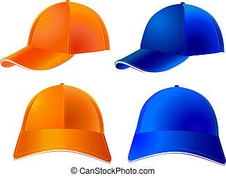 baseball cap - Vector - Two models of baseball caps - full...