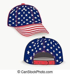 Baseball cap with USA flag