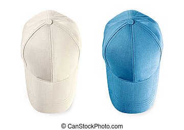 Baseball caps isolated