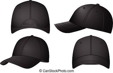 Baseball caps set