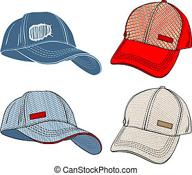 Baseball Caps-variations in different angles and...