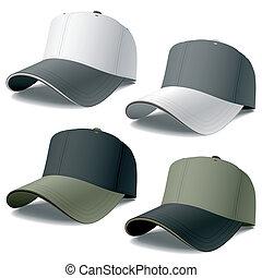 Baseball caps - Vector photorealistic illustration of ...