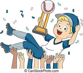 Baseball Champion - Illustration Featuring a Baseball Player...