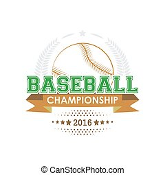 Baseball championship emblem vector.