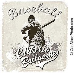 Baseball classic - illustration for shirt printed and poster